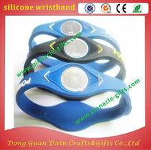 silk printing colorful design health function 3d silicone wristband with watch