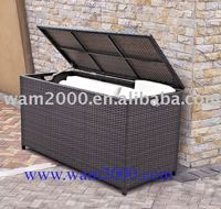 pe rattan storage box for cushions of outdoor furniture