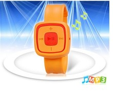 mp3 support 128mb 512mb 2gb sd card mp3 kids silicone watch mp3