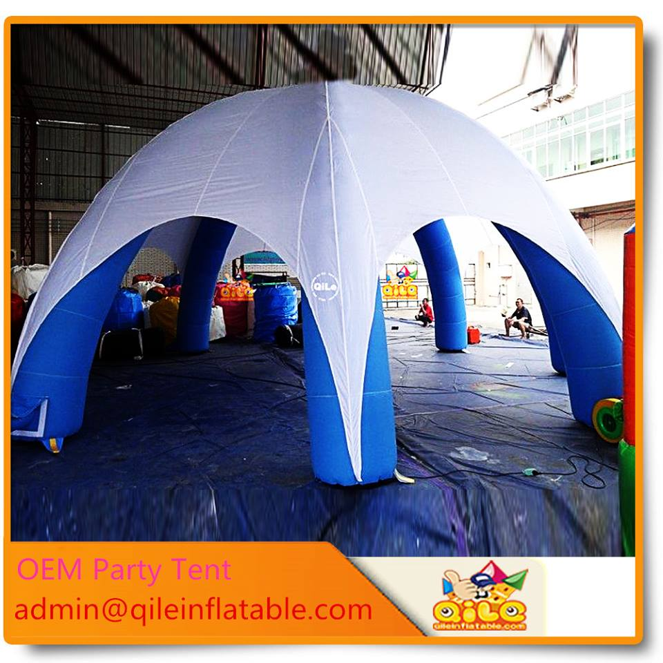 small umbrella 4 legs easy carry igloo inflatable human tent for party