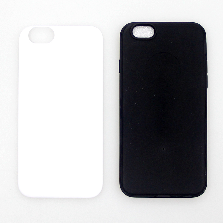 3D Sublimation Heating Transfer Print TPU PC Phone Cases Blanks For iPhone 5