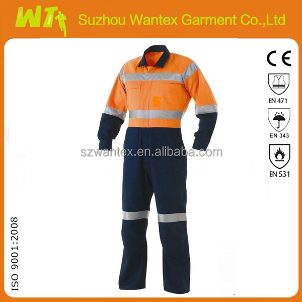 black /navy workwear radiation protective coveralls