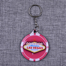 Custom free keychains promotional key chain wood epoxy keychains