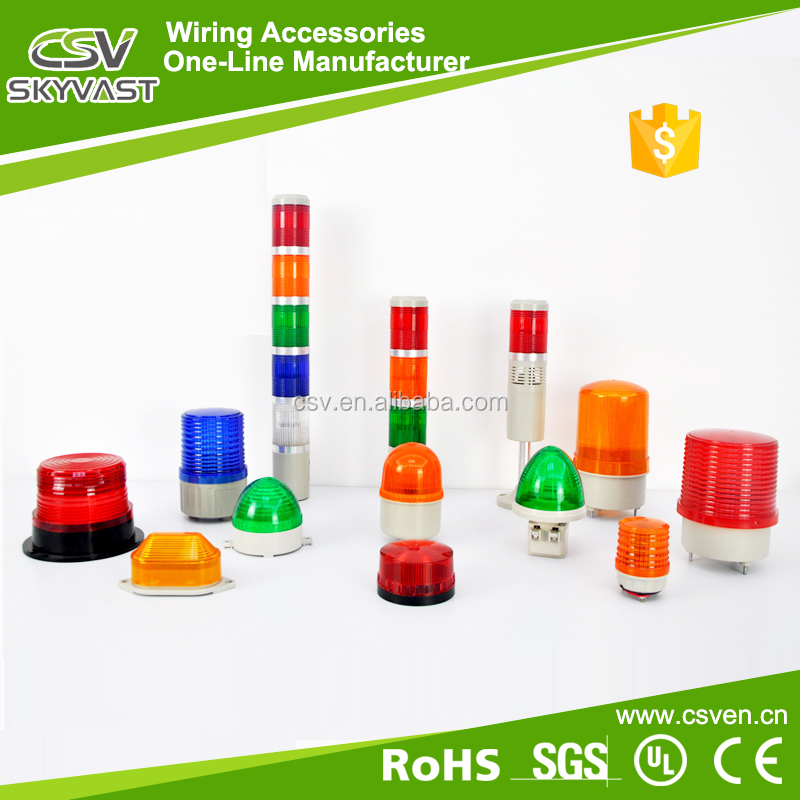 No moq warning light red blue yellow green tower light steady flash revolving led signal lamp tower