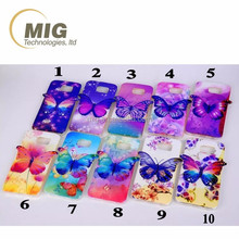 for samsung A7 A8 A9 Colorful 3D Blu ray Butterfly tpu phone case For samsung s3 s4 s5 s6 edge
