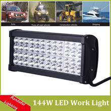 Super Bright 144W LED Work Driving Lights Four Row DIY used in Car/Boat/Truck/Auto headlight 48LEDs