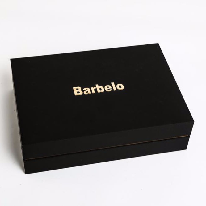 Wholesale Custom logo printed cardboard <strong>black</strong> luxury gift boxes