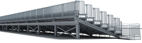 outdoor steel strong permanent stadium grandstand I beam soccer pitch