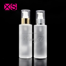 120ml cosmetic bottle frosted glass lotion bottle for cream