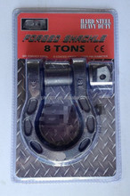 8T bow shackle die forging heated tough steel with electrophoresis treatment surface