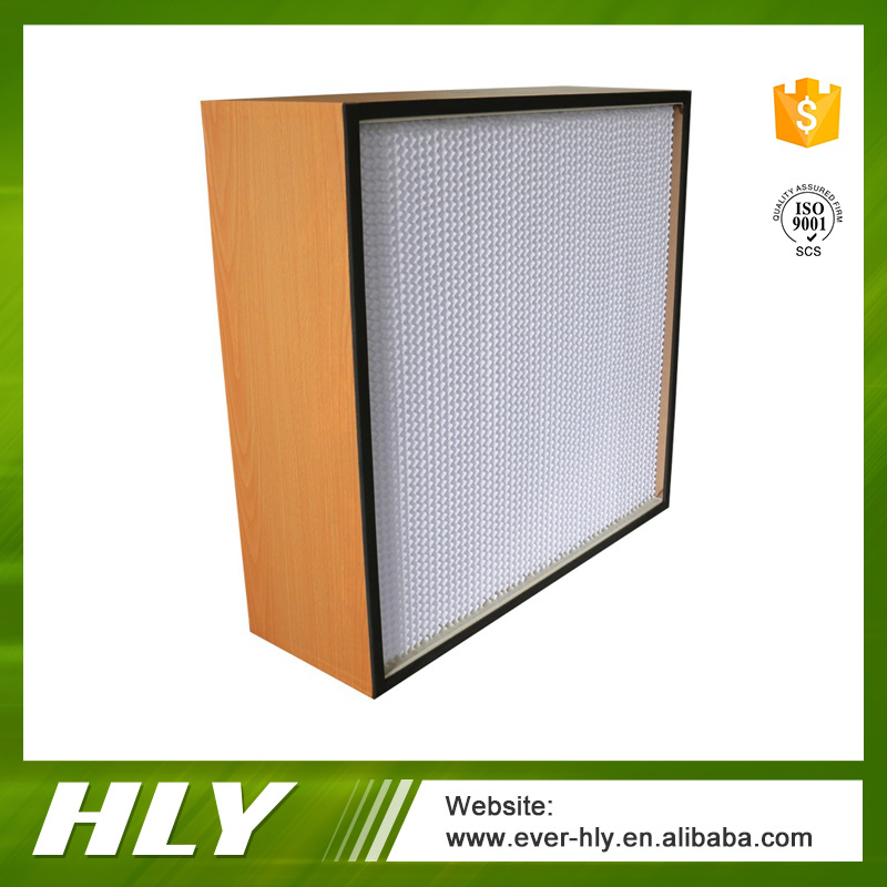 Clean room ventilation system deep pleated air filter