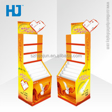 Postal card cardboard display stand for Christmas/Spring Festival/birthday