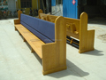 CH-B32,Wooden Church Pew With Upholstery,K.D Oak Wood Church Pew Bench,Our Design Solid Oak Church Bench