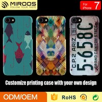 Strong Tough Hard PC Mobile Phone Case Colorful UV Printing Cover For iPhone 7
