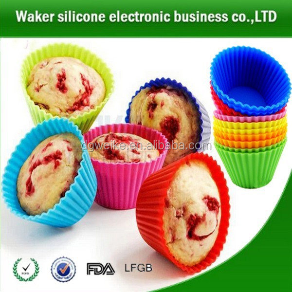 FDA silicone baking cups& muffin cups cake kitchen baking&decorating tools