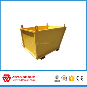 Steel Recycling bins for waste load truck skip container garbage bins