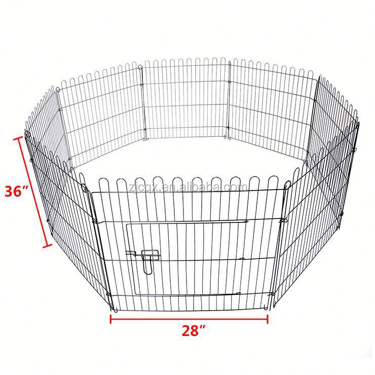 "36""Tall Foldable Dog Playpen Crate Fence Pet Cat Play Pen Exercise Cage 8 Panel"