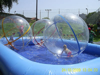 New style 1.0mm PVC/TPU bubble roller/inflatable water walking ball