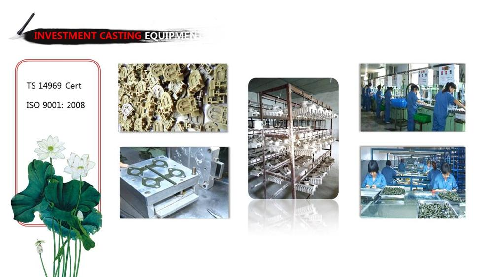SUS 304 Stainless steellost wax casting technique investment casting alloy steel precision investment casting