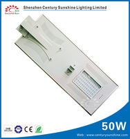 CE/RoHS/IP65 high power solar LED street light 50W