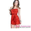 China Lingerie Manufacturers Eyelash Trim Lace Red Mature Women Sexy Lingerie