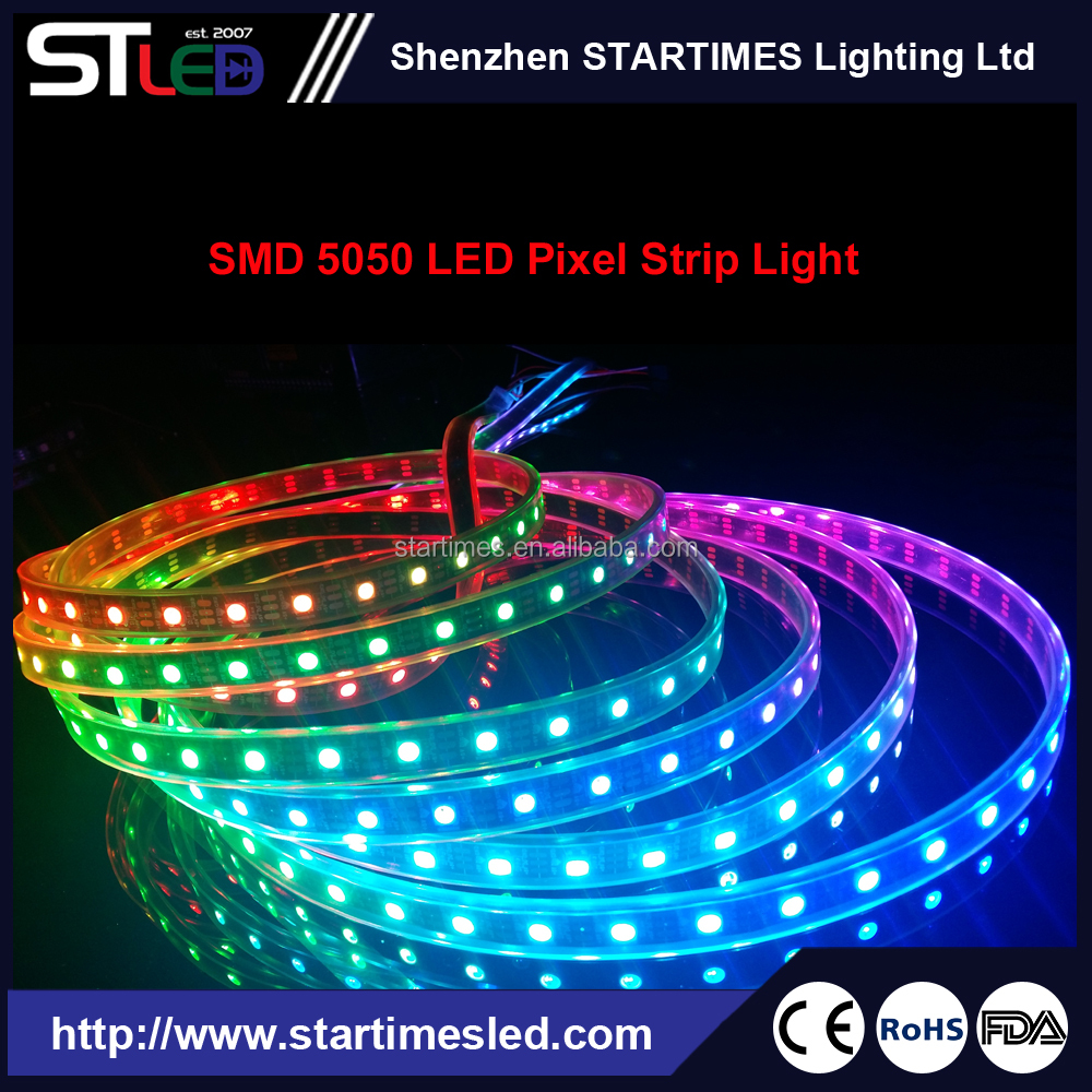 WS2812 IC Magic LED Pixel Strip smart RGB color changing LED flexible digital strip tape light