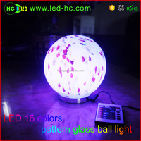 Glass ball color change led light indoor advanced color glass decorative lamp landscape lamp night light