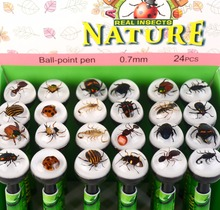 REAL insect novelty ballpoint pen gift for school kids