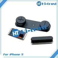 Free shipping Wholesale 100% original high quality volom buttom flex cable for iphone 5