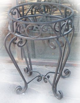 custom wrought iron table bases