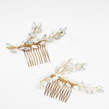 Opal Crystal Bridal Hair Comb Set Wedding Headpiece 2019