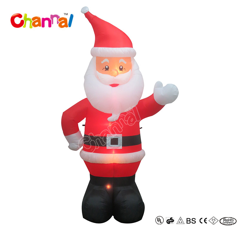 2017 Popular Sale Good design christmas santa claus inflatable with led lights inside