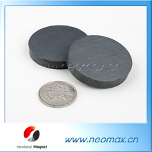 customized strong round disc shape ceramic ferrite magnet for sale