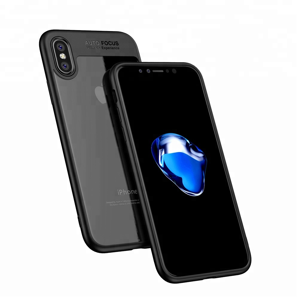 Anti Scratch mobile back cover clear pc tpu phone case for <strong>iphone</strong> X 10 Auto focus case
