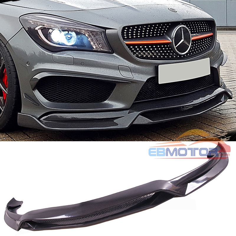 R style Real carbon fiber front lip Spoiler for <strong>W117</strong> c117 CLA250 CLA220 AMG SPORT 2014UP M135