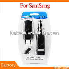 for samsung mobile phone 3in1 kit charger with usb cable