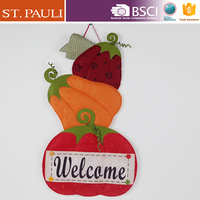 36 inch home felt wall hanger thanksgiving day items autumn decoration felt harvest pumpkin