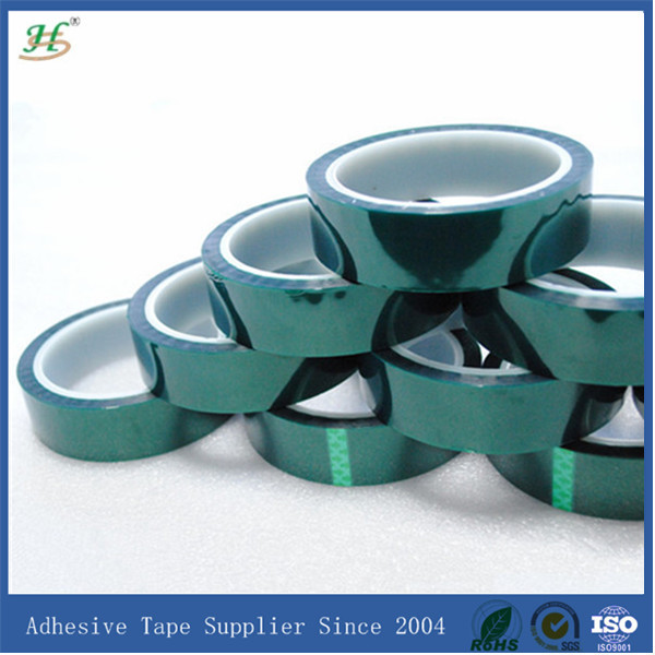 Silicone adhesive green polyester tape for powder coating