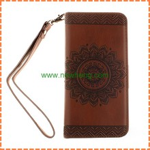 New design flip wallet leather case with stand for iphone 6 plus