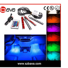 Color changing Car Styling RGB LED Strip Light for car Interior Atmosphere lighting