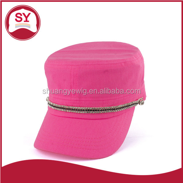 Chinese pink baby foam army cap hat /german winter army baby caps and hats