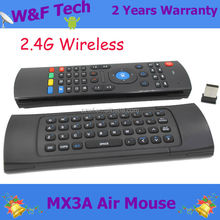 Wholesale!! 2.4g air mouse for android tv mx3 fancy air fly mouse with keyboard for smart tv box