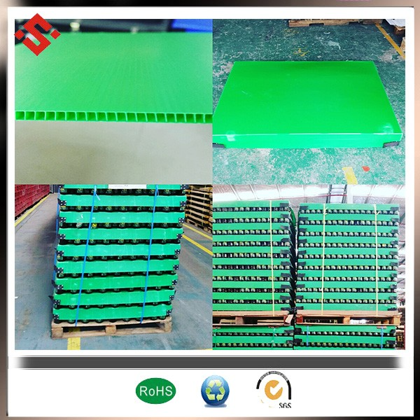 Large plastic tray welded edge plastic pp layer pads With standing rough handling