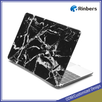 Black Marble Texture Hard Shell Print Glossy Case for Mac book Air 11 13 Pro Retina13 15 Cover Factory