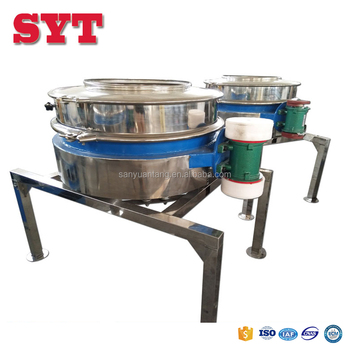 China food vibrating sieve direct discharging flour screening machine
