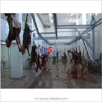 Bleeding Suspended Bloodletting Auto Line used goat mutton slaughter equipment machine can be slaughtering toggenburg and buck