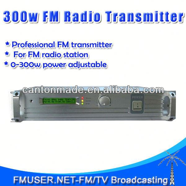 FMUSER FSN-350 300W FM Radio Broadcast Transmitter 0-300w fm low power transmitter FM Radio Station 25KM RL1