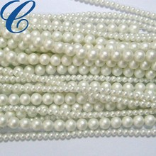 White Wrinkle Plastic Pearl for Wedding Dress
