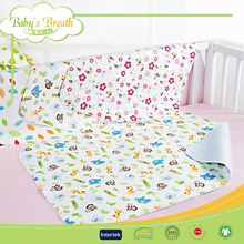 BBS256 100%cotton printed brand quilted bed cover, elastic band bed cover