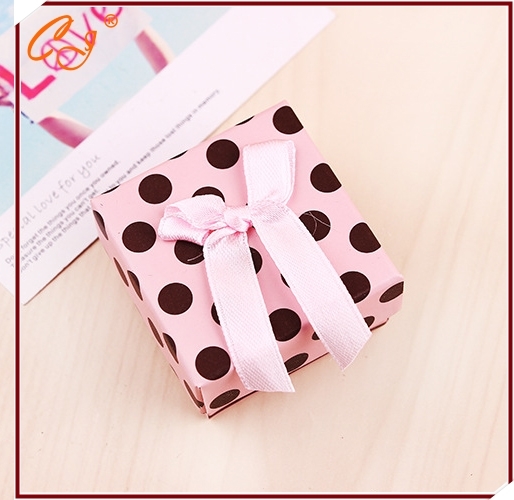 Fashion small pure and fresh and multicolor ring box Personality and take bowknot earrings jewelry box packaging gift box